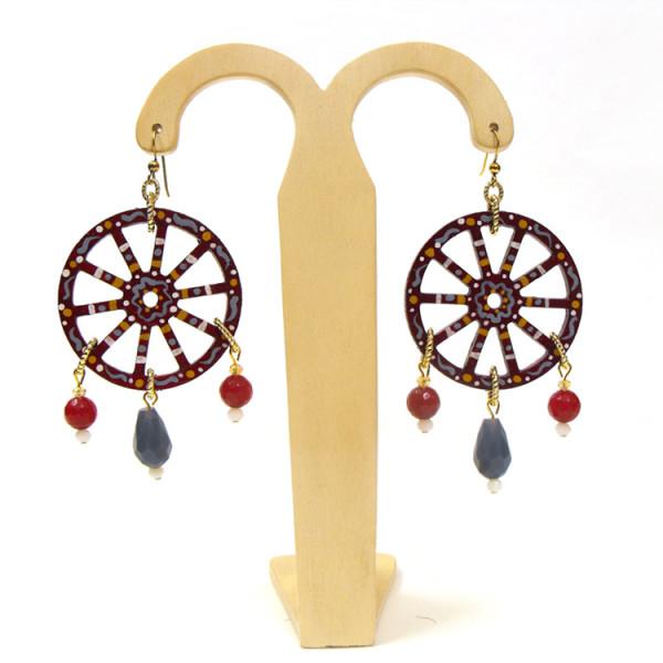 """Simona Maiolino bijoux in legno – Orecchini """"Ruote"""""""